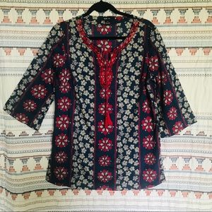 Style & Co blouse blue and red size 6